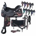 Tough-1 Eclipse Pro Trail Saddle 7 Piece Package In Fun Prints