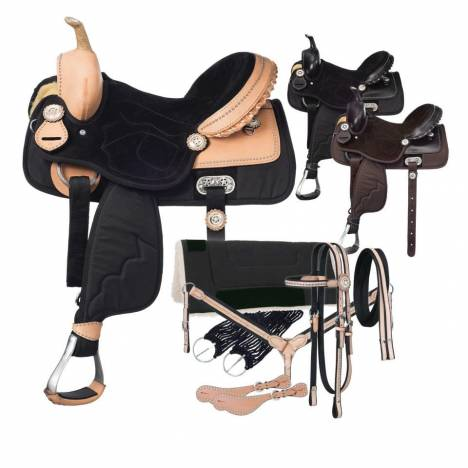 Tough-1 Eclipse Elite Competition Saddle 7 Piece Package