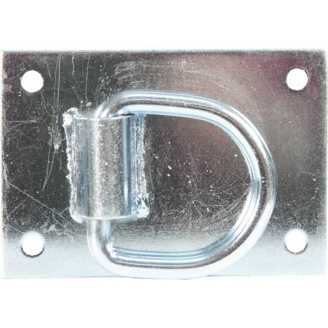 Heavy Duty Tie Ring For Horse Barns - Silver - 3.5X5""