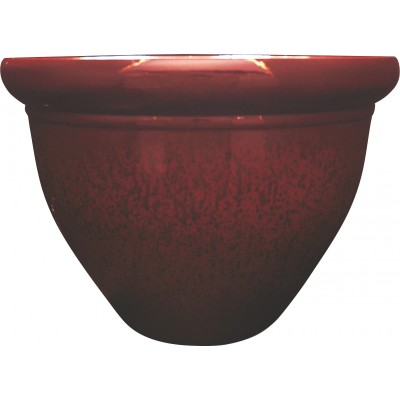 Pizzazz Pop Resin Pottery Planter - Warm Red - 9