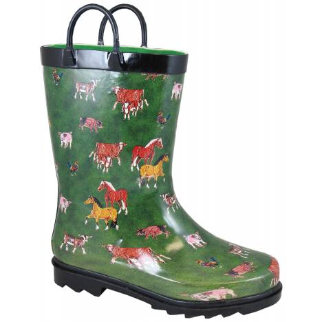 Smoky Mountain Kids Round Up Rubber Boots