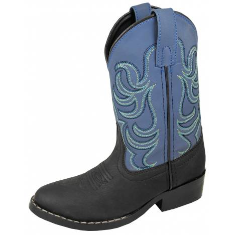 Smoky Mountain Youth Monterey Western Boots - Black/Blue
