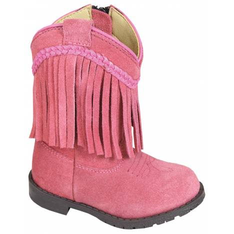 Smoky Mountain Toddler Hopalong Fringe Zip Boot - Pink