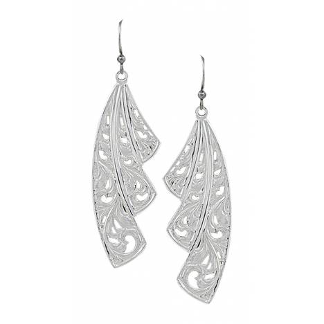 Montana Silversmiths Western Lace Fan Leaf Earrings