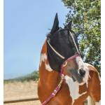 Noble Outfitters Guardsman Fly Mask With  Ear - Black - XX-Large