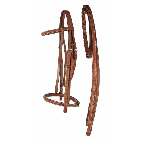 Treadstone Richtan Plus Pad Raised Bridle with Fancy Stitched