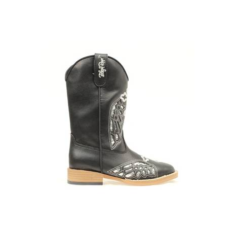 Blazin Roxx Kids Gracie Wing & Cross Western Boot - Black