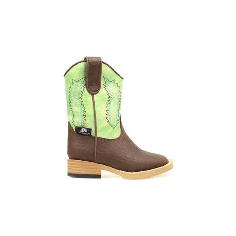 DBL Barrel Kids Wyatt Zip Western Boot