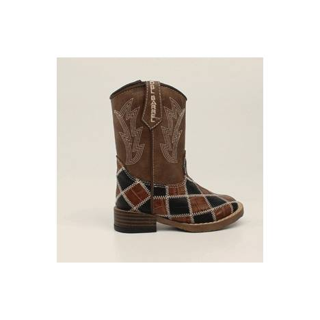 DBL Barrel Toddler Andy Patchwork Western Boot