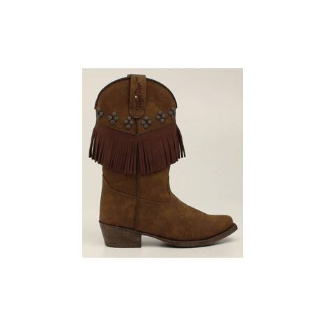 Blazin Roxx Youth Annabelle Fringed Snip Toe Western Boot