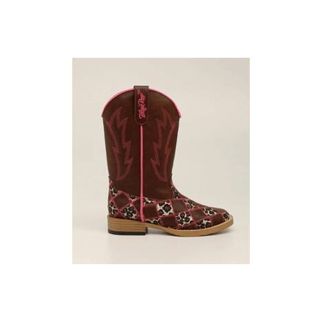 Blazin Roxx Kids Miley Patchwork Square Toe Western Boot - Brown
