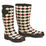 Blazin Roxx Ladies Hattie Tribal Round Toe Rain Boots