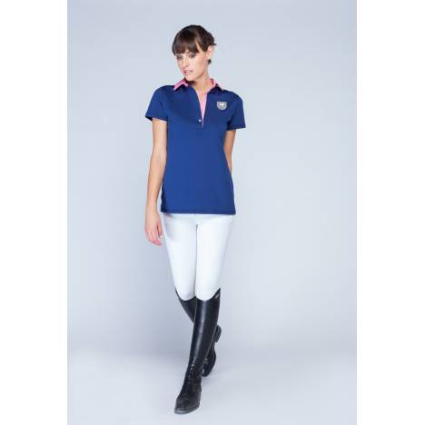 Asmar Equestrian Ladies' Woven Collar Polo