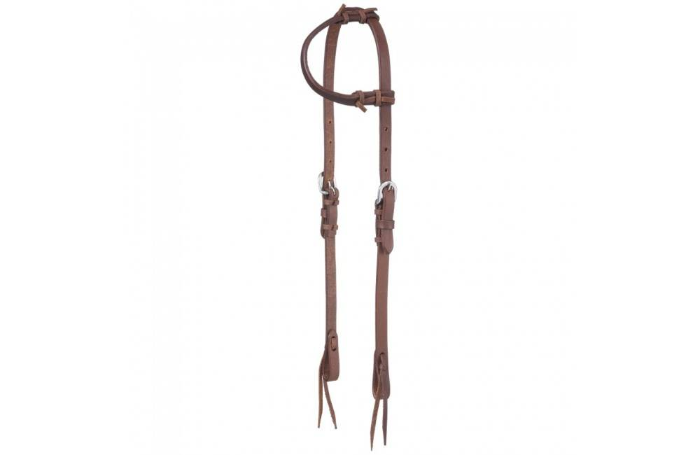 Tough-1 Harness Leather Single Ear Headstall With