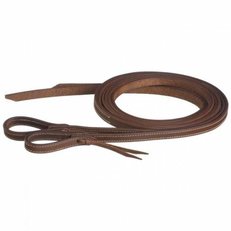 Tough-1 Doubled & Stiched Harness Leather Reins With Waterloop