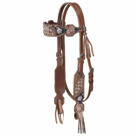 Silver Royal Savannah Collection Headstall With Fringe