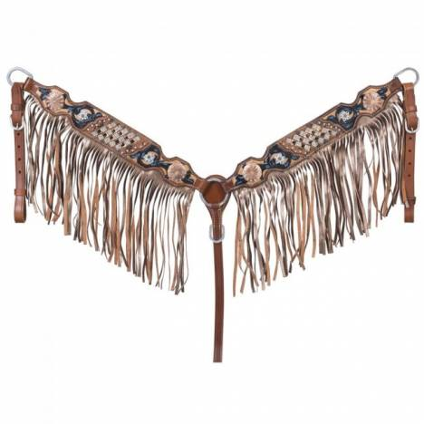 Silver Royal Savannah Collection Breastcollar With Fringe