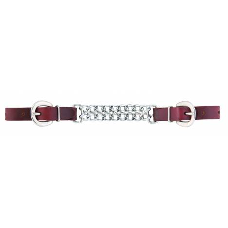 """Weaver Working Cowboy 4-1/2"""" Double Flat Link Curb Strap"""