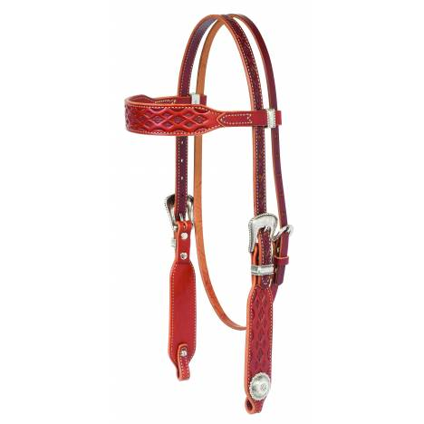 Weaver Aztec Tooled Browband Headstall