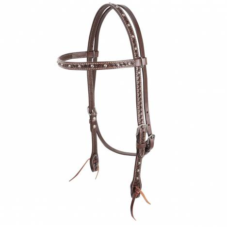 Cashel Silver Dotted Browband Headstall