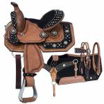 Silver Royal High Noon Barrel Saddle 4 Piece Package