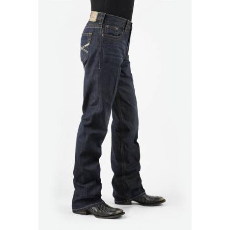 Stetson Mens Collection Modern Fit Very Dark Wash Jean