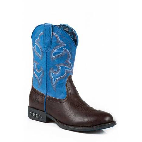 Roper Boys Kids Lightning Light Up Western Boot