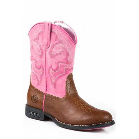 Roper Girls Kids Lightning Light Up Western Boot