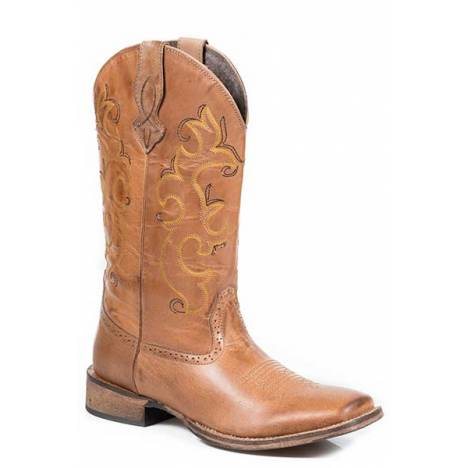 Roper Ladies Lindsey Basic Wide Square Toe Western Boot