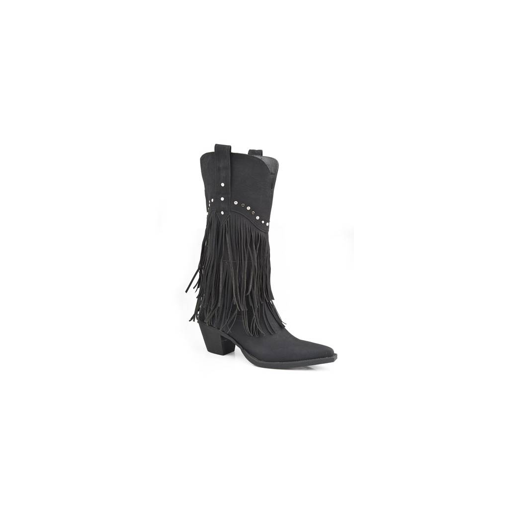 8ca4af3ea4c Roper Ladies Oakley Fringe And Stud Fashion Boot