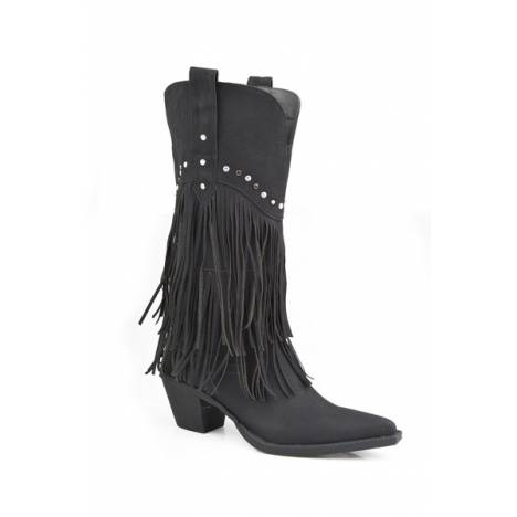 Roper Ladies Oakley Fringe And Stud Fashion Boot