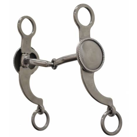 Metalab Rope Edge Custom Shank Snaffle Bit