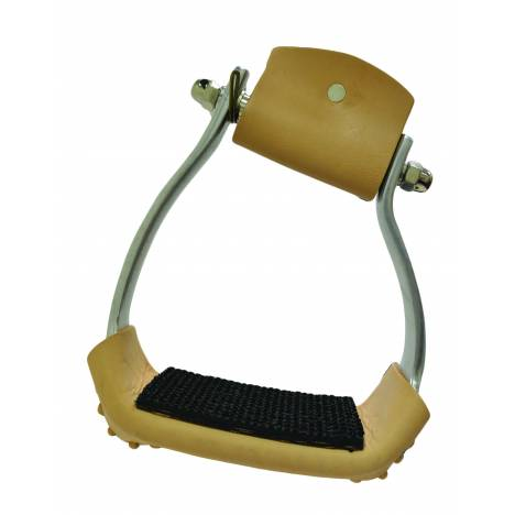 Slanted Wide Aluminum Stirrup with Rubber Pad