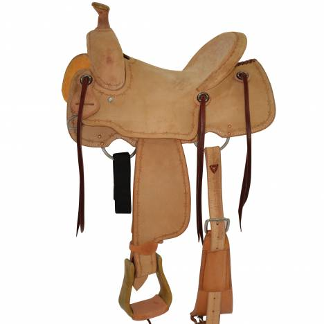 Circle Y Select All Around Hardseat Roughout Saddle