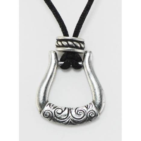 Barbary Western Stirrup On Cord Necklace