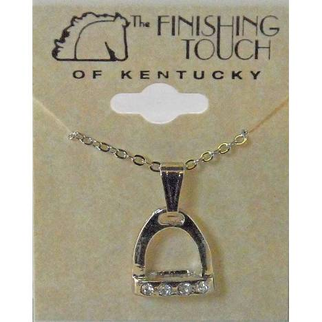 Western Edge Crystal Accent Stirrup Necklace