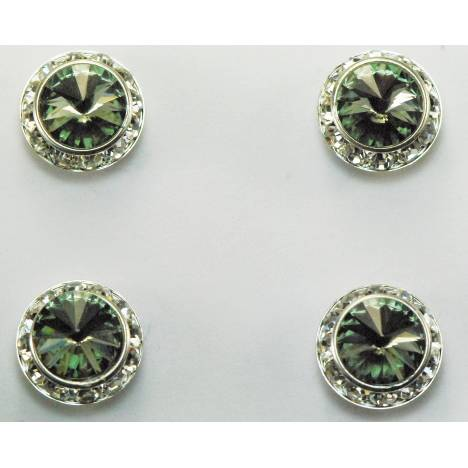 Western Edge Magnet Number Set Of 4 Pins, Black Diamond Crystals