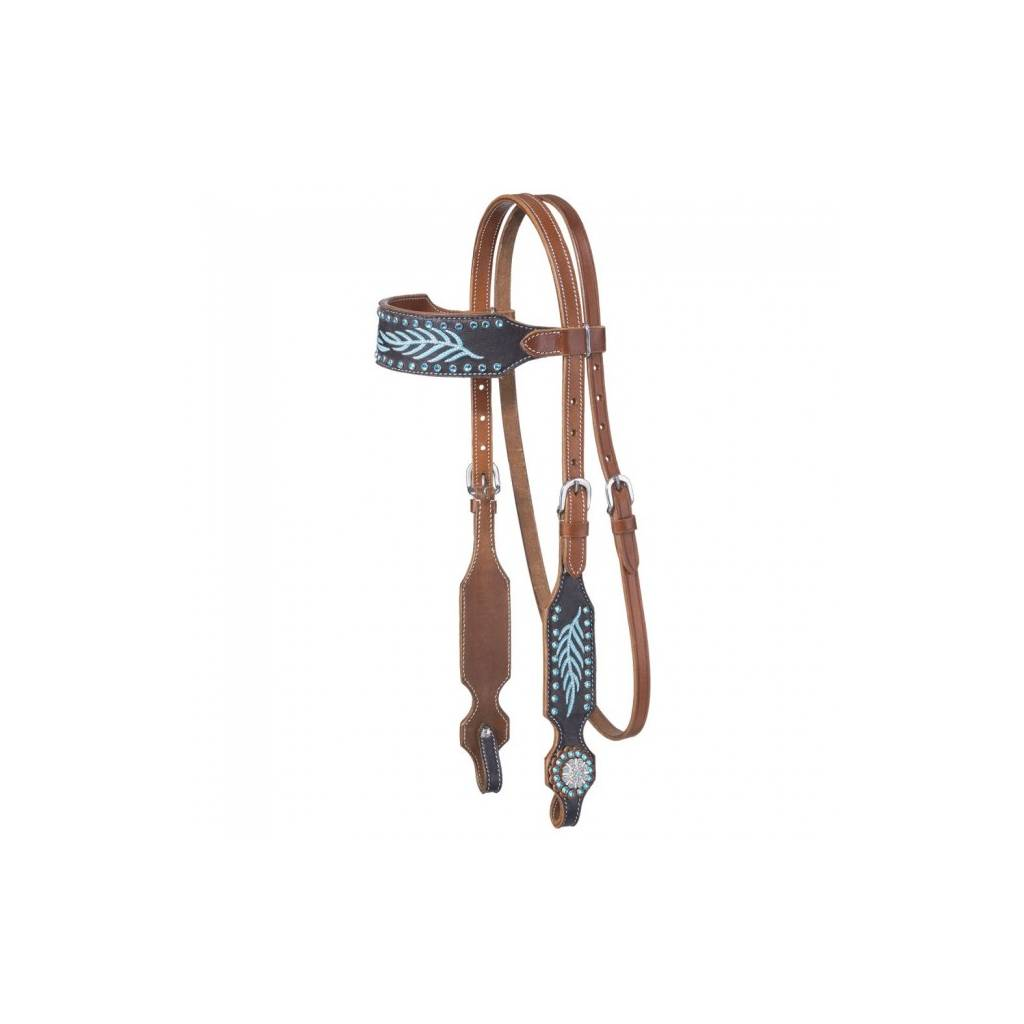 Silver Royal Keely Collection Browband Headstall