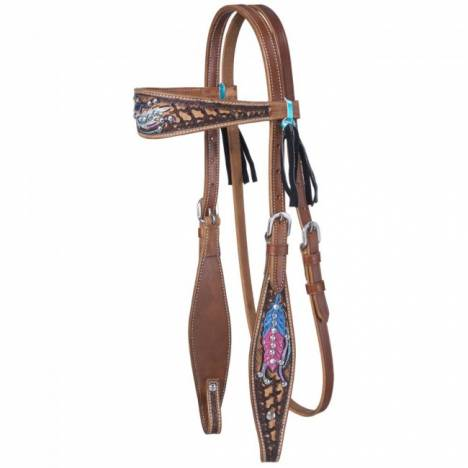Silver Royal Delilah Collection Browband Headstall