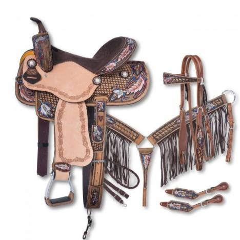 Silver Royal Naomi Collection 5 Piece Saddle Package