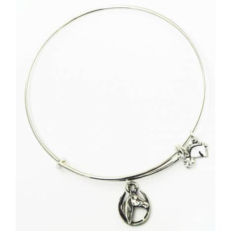 Finishing Touch Horse Head In Shoe Plain Wire Adjustable Bangle