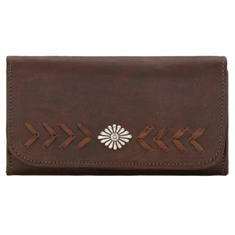 American West Ladies Mohave Canyon Tri-Fold Wallet