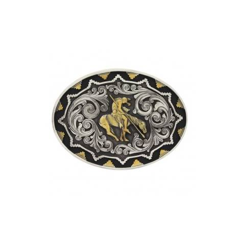 Montana Silversmiths 2 Tone Southwest Impressions End Of Trail Attitude Buckle