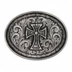 Montana Silversmiths Rope And Barbed Wire Deco Cross Attitude Buckle