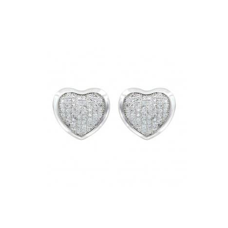 Montana Silversmiths Simply Pave Heart Earrings