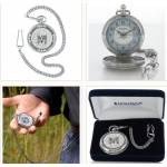 Montana Silversmiths New Traditions Four Directions Pocket Buffalo Skull Watch
