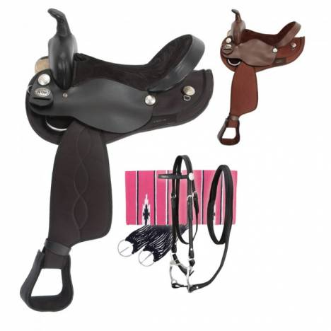 Eclipse by Tough 1 Krypton Round Skirt Trail Saddle Package