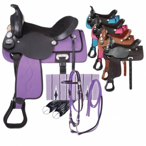 Eclipse by Tough 1 Youth Krypton Trail Saddle Package