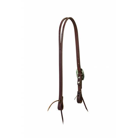 Weaver Working Cowboy Slim Slit Ear Headstall - Rope Edge