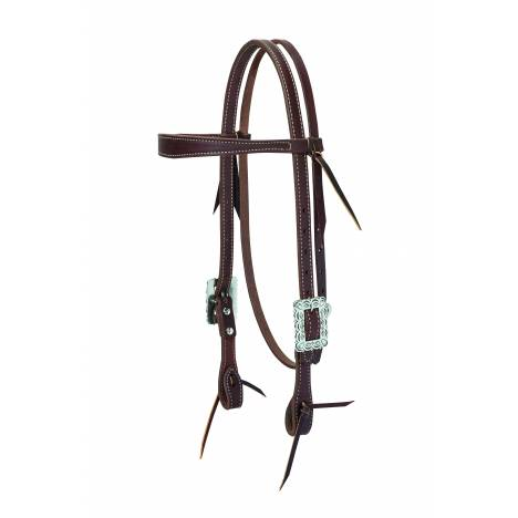 Weaver Working Cowboy Slim Browband Headstall - Scalloped